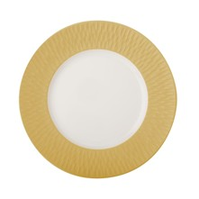 Boreal Satin Dore - Assiette plate - or