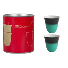 Illusions - Coffret 2 tasses - gris