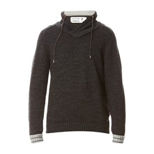 Pull col montant - anthracite