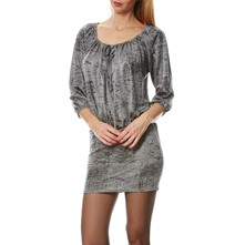 Gypsy - Robe courte - gris clair