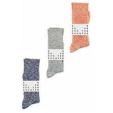 Pack de 3 paires de chaussettes - orange