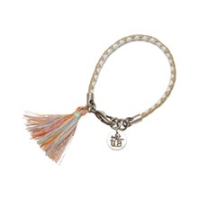 Bracelet en cuir finition argent - multicolore
