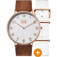 Ice City - Montre en cuir - marron
