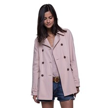 FORME TRENCH, IMPERMÉABLE : TRENCH - ROSE CLAIR Trench and coat