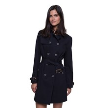 FORME TRENCH, IMPERMÉABLE : TRENCH - BLEU MARINE Trench and coat