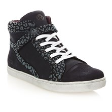 Sneakers alte in pelle - blu scuro