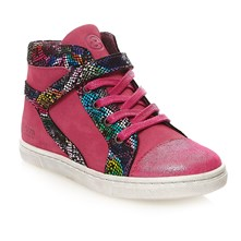Sneakers alte in pelle - fucsia