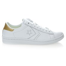 PL LP OX WHITE/LIGHT GOLD/WHITE - Sneakers in pelle - bianco