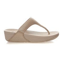 SHIMMY SUEDE TOE-POST - Infradito - oro
