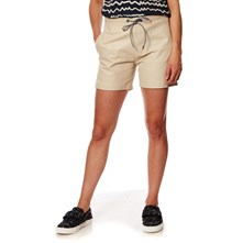 Short in pelle - beige