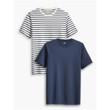 ESSENTIAL - LOT DE 2  TEE-SHIRTS - BLEU MARINE Levi's