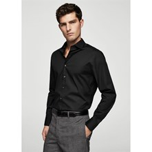 TAYLORED - CHEMISE BUSINESS - NOIR Mango Man