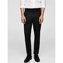 TAILORED - PANTALON DE COSTUME SUPER-SLIM STRUCTURÉ - NOIR Mango Man