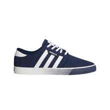 SEELEY - BASKETS EN CUIR - BLEU MARINE Adidas Originals