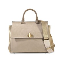SAC À MAIN EN CUIR - BEIGE Hugo Boss