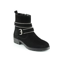 BOTTINES EN CUIR - NOIR Manoukian