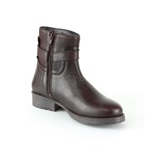 BOTTINES EN CUIR - BRUN Manoukian