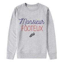 MONSIEUR FOOTEUX - SWEAT-SHIRT - GRIS Enkr