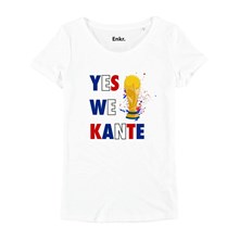 YES WE KANTE - T-SHIRT MANCHES COURTES - BLANC Enkr