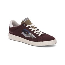 PORTOBELLO - BASKETS EN CUIR - BORDEAUX Pepe Jeans Footwear