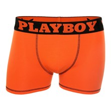 MESSAGE - BOXER - ORANGE Playboy Homme