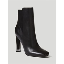 KITTY - BOTTINES EN CUIR - NOIR Guess