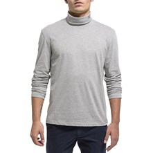 RONPE - T-SHIRT MANCHES LONGUES - GRIS CHINE Oxbow