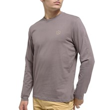 TEPAS - T-SHIRT MANCHES LONGUES - POIVRE Oxbow