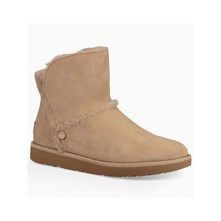 BOTTINES EN CUIR - BEIGE Ugg