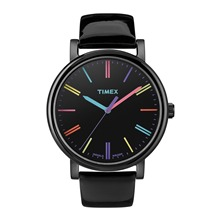 Easy Reader - Montre - en cuir vernis noir