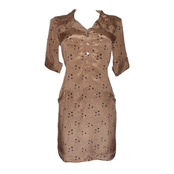 Miss June - Robe Toscane en soie beige - 1004347