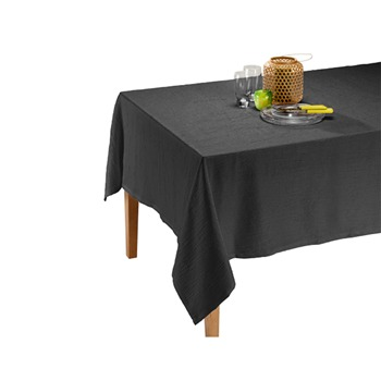 Ifilhome - satiné - Nappe - anthracite - 1170169