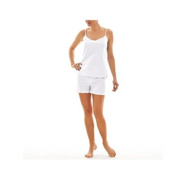 Ifilhome - Ensemble caraco et shorty - blanc - 1170202