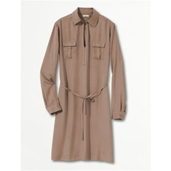 Robe chemisier - taupe
