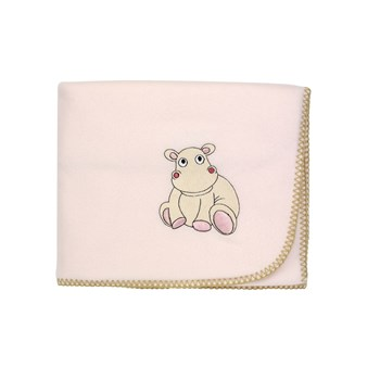 Hippo - Couverture polaire - rose