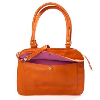 Accordéon - Sac à main en cuir - orange
