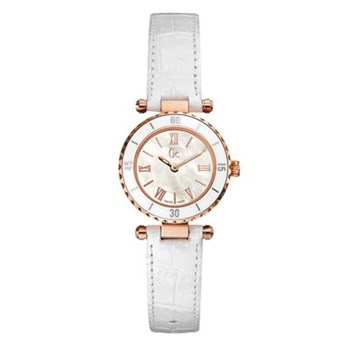 Guess Collection - Montre - bracelet en cuir blanc
