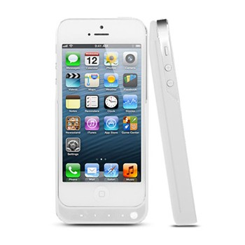 iPhone 5/5C/5S IOS7 - Cover con batteria integrata - bianco