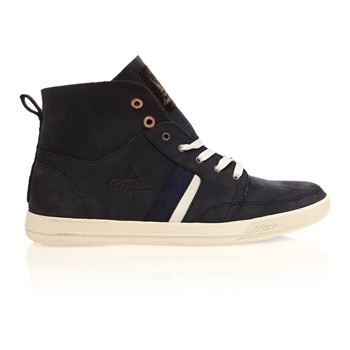 Grafting - Sneaker alte - in pelle blu scura