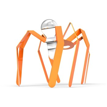 Spiderlight - Lampe à poser - orange