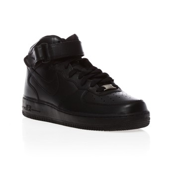 Air Force 1 Mid - Ledersneakers - schwarz