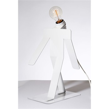Moonwalk Tekniks - Lampe design - blanche