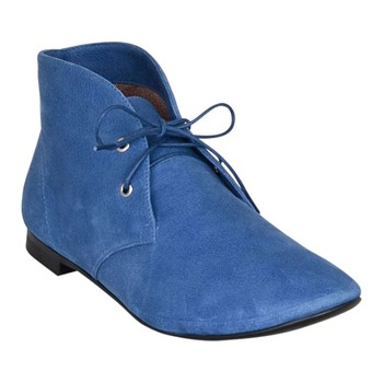 Tony - Derbies montantes - en cuir bleu