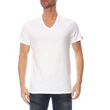 Levi's - Slim Fit - Set van 2 T-shirts - wit en grijs