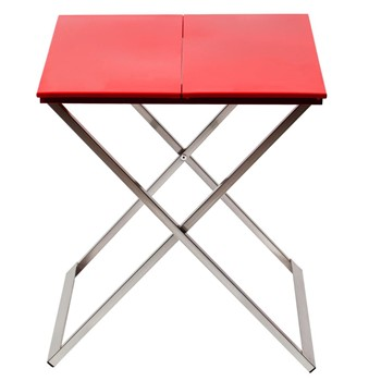 Origami - Table de chevet - / Rouge vif