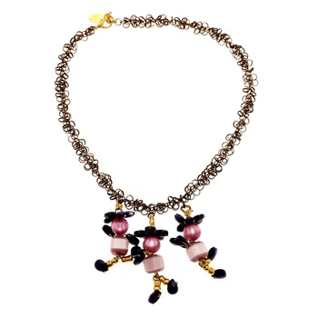 Chic and Go - Collier - fantaisie en verre rose