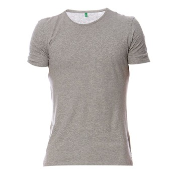 Benetton - T-shirt - gris chiné - 1308607