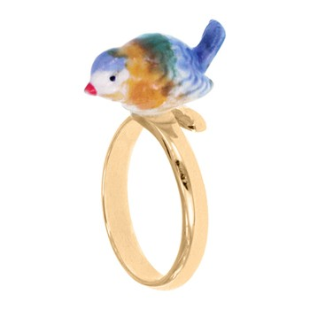 Nach - Mésange Bleue - Bague ajustable - multicolore