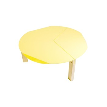 Entreautre - Tools - Table basse ronde - jaune - 1482235