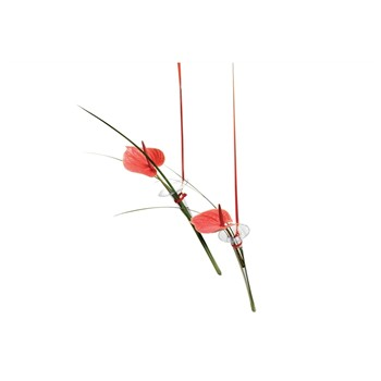 Tung design - Set de 2 soliflores en verre - rouge